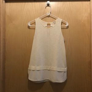 Off White Tank Top with Key Hole on Back